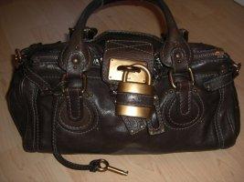 Chloé Sac Baril brun cuir
