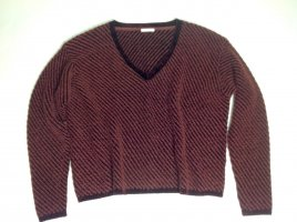 Chloé V-Neck Sweater bordeaux