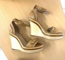 Chloé Sandalias con plataforma beige Cuero
