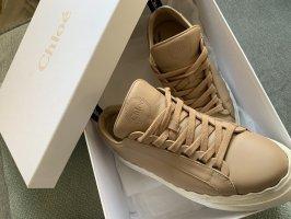Chloé Sneaker con tacco beige-color cammello Pelle