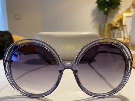 Chloé Owalne okulary przeciwsłoneczne błękitny