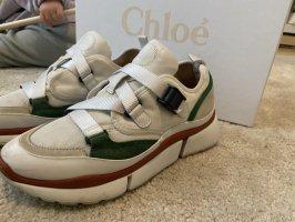 Chloé Sonnie Suede Sneaker 39 rot grün mit Box und Dustbags