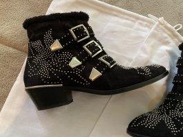 Chloé Low boot noir-argenté