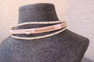 Chocker & Armband Rosa Creme Muschel