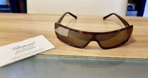 Chopard Angular Shaped Sunglasses brown-light brown