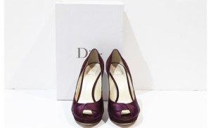 Christian Dior Pumps Rauleder dunkellila 38,5