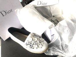 Christian Dior Schuhe Espadrille Leder weiß flore floral laser cut
