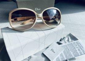 Christian Dior Okulary retro kremowy-w kolorze białej wełny