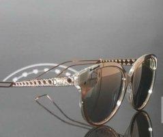 Christian Dior Okulary motylki w kolorze różowego złota