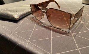 Christian Dior Kwadratowe okulary przeciwsłoneczne brąz-brązowy