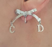 Dior Earclip light grey metal