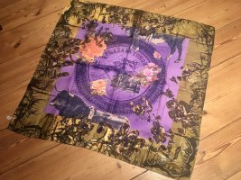 Christian Lacroix Zijden sjaal lila-goud Oranje