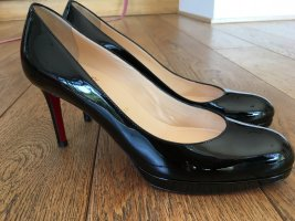 Christian Louboutin Lackleder Pumps schwarz
