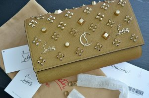 Christian Louboutin Shoulder Bag camel-gold-colored leather