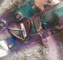 Vintage Cinturón de cuero de imitación multicolor