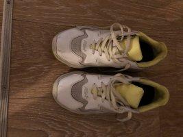 ASH Basket à lacet blanc cuir