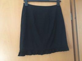 Cinque Falda asimétrica negro Algodón