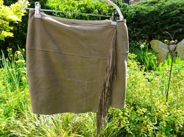 Cinque Fringed Skirt sand brown