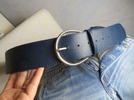 Vintage Leather Belt dark blue leather