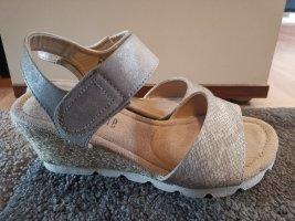 CityWalk Sandalen Sandaletten Gr 36 Creme gold