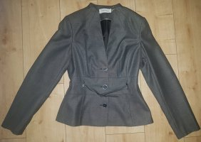 CK Calvin Klein Blazer Jacket Jacke Business Elegant Grau Meliert S 36