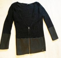 Calvin Klein Jeans Coarse Knitted Jacket black cotton