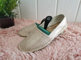 Claudia Ghizzani Moccasins gold-colored-sand brown mixture fibre