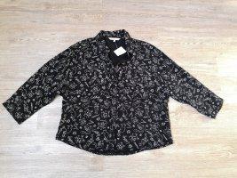 Clockhouse Oversized blouse wit-zwart