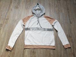 Clockhouse Sweatshirt Pulli Sport XS/S rosa Weiß grau Kapuze