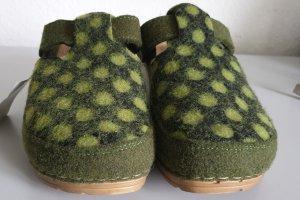 Heine Sandalo con tacco cachi-verde bosco