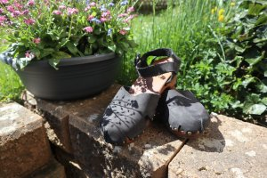 Deerberg Clog Sandals black leather
