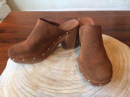 Oxmox Heel Pantolettes brown