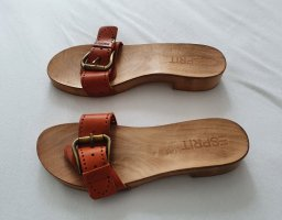 Esprit Clog Sandals orange wood