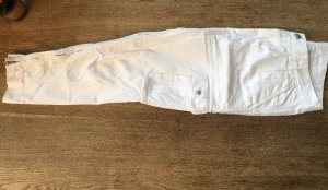 Closed Cargo Pants white