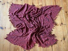 Closed Tuch-Schal rot mit Herzchen-Print