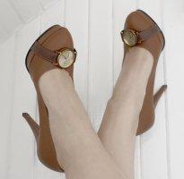 CLOX Stilettos Mocca Braun mit Uhr DE38