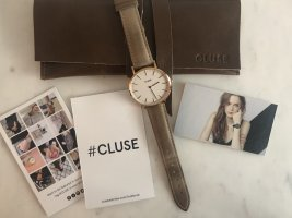 Cluse Watch With Leather Strap light brown