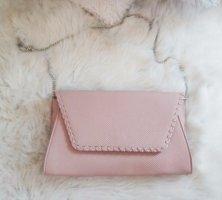 Bijou Brigitte Bolso de mano rosa empolvado tejido mezclado