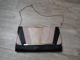 Clutch Bijou Brigitte rosa gold schwarz Handtasche