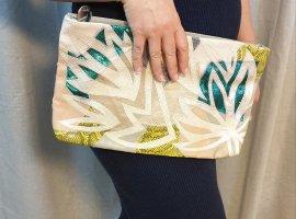 Mango Clutch multicolored imitation leather