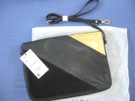 Clutch Handtasche Zara schwarz/grau/gold neu Etikett