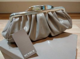 Clutch in Lack, farbe taupe