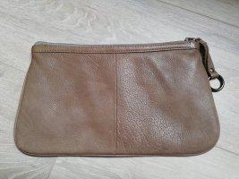 Clutch/Kosmetiktasche STRAUSS INNOVATION aus Echtleder in taupe