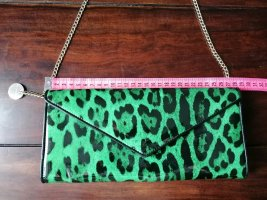 Clutch, Leoprint, Leopard, Tasche, klein, grün, schwarz