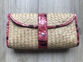 Basket Bag cream-neon red