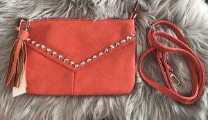 David Jones Clutch neon orange-red