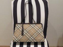 Clutch Schultertasche Tasche von Burberry auch ueber der Schulter zu tragen in Stoff Leder Kombination Vintage