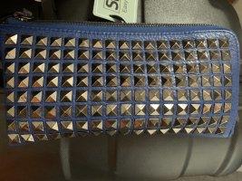 Clutch blauw-zilver