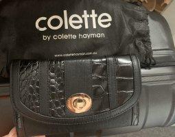 Colett Clutch zwart-goud
