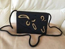 Pochette noir tissu mixte